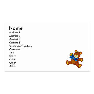 Buddy Bear Double-Sided Standard Business Cards (Pack Of 100)