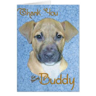 Buddy Blue Greeting Card