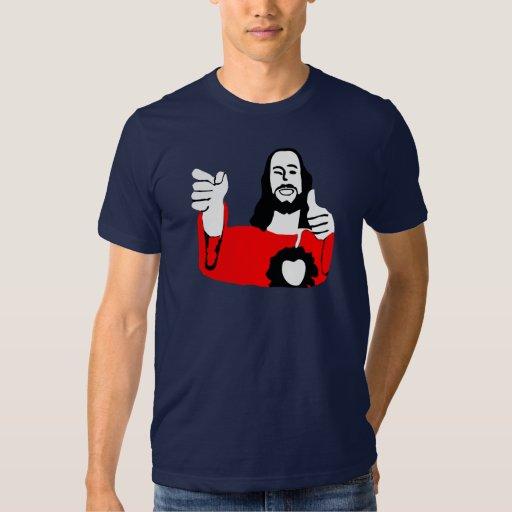Buddy Jesus, rounded Tshirts