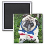 Buddy Love Love's 2 Inch Square Magnet