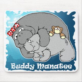 Buddy Manatee Kiss Mousepad