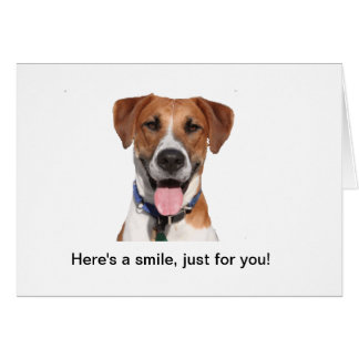 "Buddy says ""Here's a smile, just for you!"" Note ca Card"
