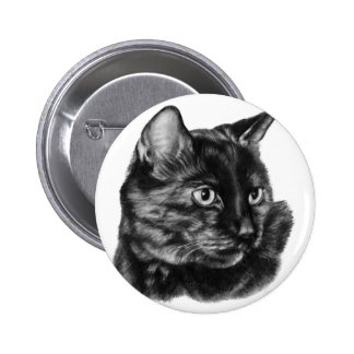 Buddy, Short-Haired Tortoise Cat Pinback Buttons