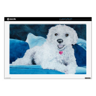 Buddy the Bichon Frise Decal For Laptop