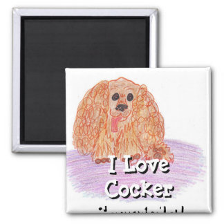 Buddy the Cocker Spaniel Magnets