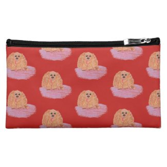 Buddy the Cocker Spaniel Pastel Art Makeup Bag