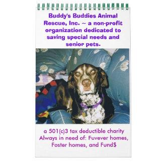 Buddy's Buddies Animal Rescue 2011 Calendar