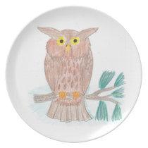 Buddy's Owl Dinner Plate