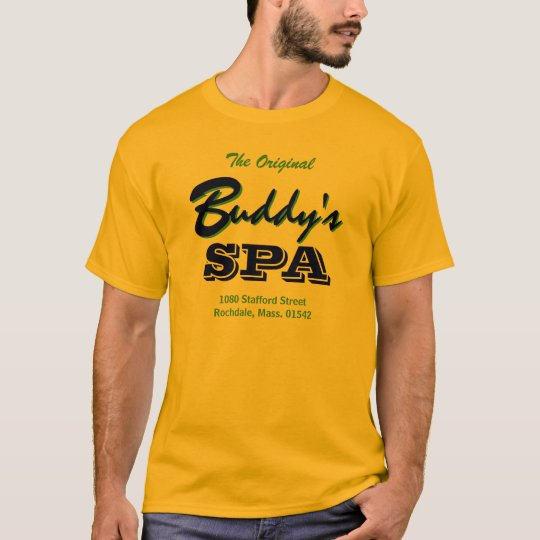 Buddy's Spa, Rochdale MA 01542, Alternate Jersey T-Shirt