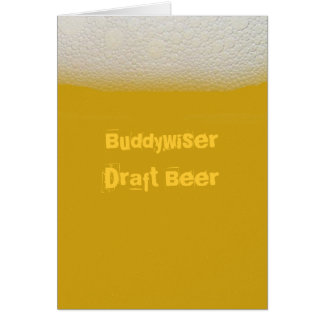 BuddywiserDraft Beer Card