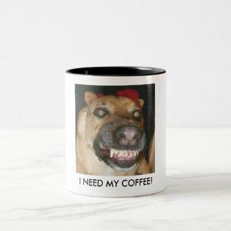 buddyzombie, I NEED MY COFFEE! mug