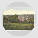 Bude and Strattan, Cornwall, England vintage Photo Stickers