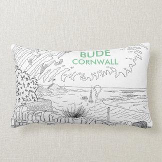 Bude Cornwall Cololuring book apparel - Breakwater Lumbar Pillow
