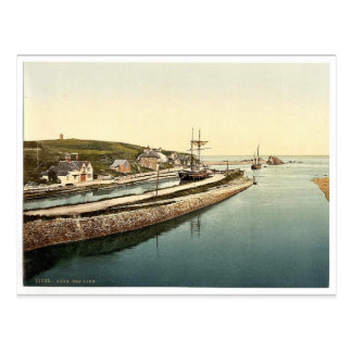 Bude, the lock, Cornwall, England vintage Photochr Postcard