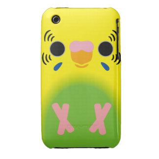 Budgerigar (Harlequin Lightgreen) iPhone 3 Case-Mate Cases