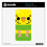 Budgerigar (Lightgreen pied Female) Skins For The iPhone 4