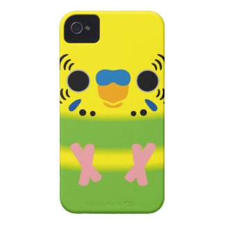 Budgerigar (Lightgreen pied Male) iPhone 4 Covers