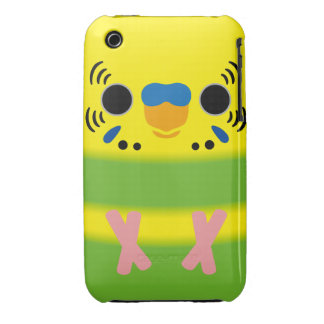 Budgerigar (Lightgreen pied Male) iPhone 3 Case