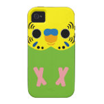 Budgerigar (Normal Lightgreen Male) iPhone 4 Covers