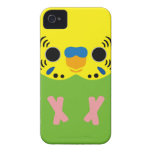 Budgerigar (Normal Lightgreen Male) iPhone 4 Case-Mate Case