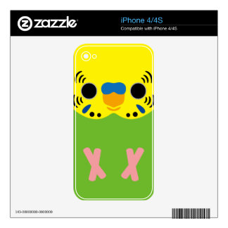 Budgerigar (Normal Lightgreen Male) iPhone 4S Decals