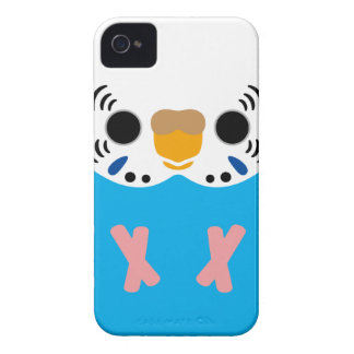 Budgerigar (Normal Skyblue Female) iPhone 4 Case-Mate Cases