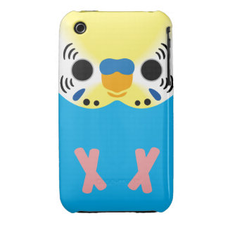 Budgerigar (Normal Yellowface1 Skyblue Male) iPhone 3 Case-Mate Cases