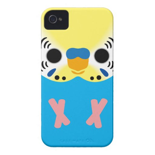 Budgerigar (Normal Yellowface1 Skyblue Male) iPhone 4 Case-Mate Cases