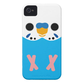 Budgerigar (Opaline Skyblue Male) iPhone 4 Case-Mate Cases