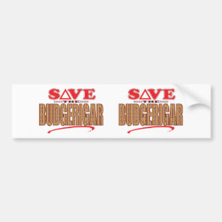 Budgerigar Save Bumper Sticker