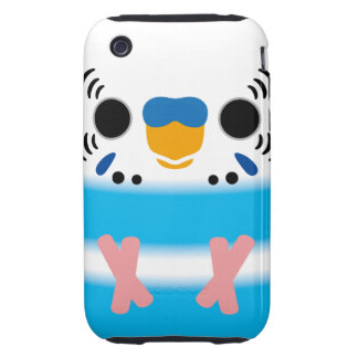Budgerigar (Skyblue Pied Male) iPhone 3 Tough Covers