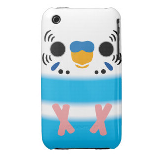 Budgerigar (Skyblue Pied Male) Case-Mate iPhone 3 Cases