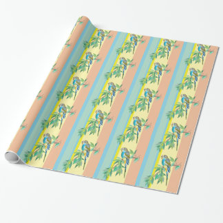 budgerigar gift wrapping paper