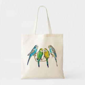 budgerigars bolsa de mano