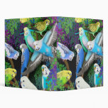 Budgerigars & Ferns Avery Binder