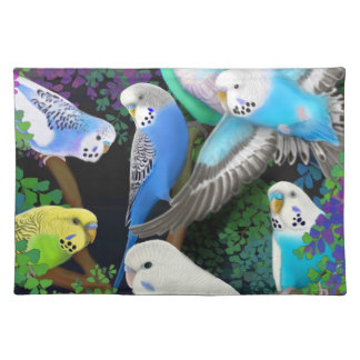 Budgerigars in Ferns Placemat