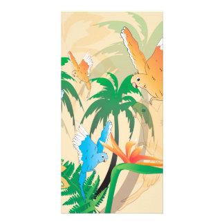 Budgerigars lindos tarjeta personal con foto