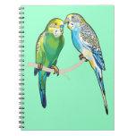 budgerigars notebook