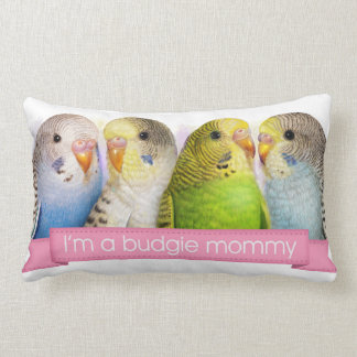 Budgerigars realistic painting pillow
