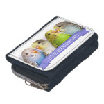I Love Budgerigars Realistic Painting Wallet