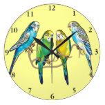 budgerigars reloj de pared
