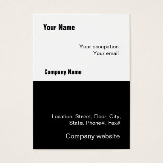 Budget 2 in 1 Black White Big Business Card