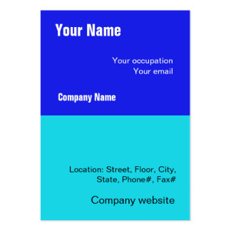 Budget 2 in 1 Blue Big Business Card