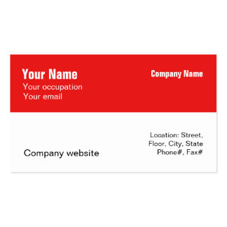 Budget 2 in 1 Multiple Uses Red Business Card