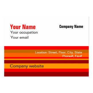 Budget 2 in 1 Red Stripe Big Business Card
