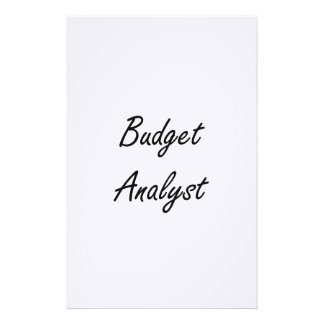 Budget Analyst Artistic Job Design Stationery