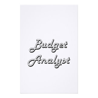 Budget Analyst Classic Job Design Stationery