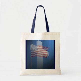 Budget Bag!  God bless America! Tote Bag