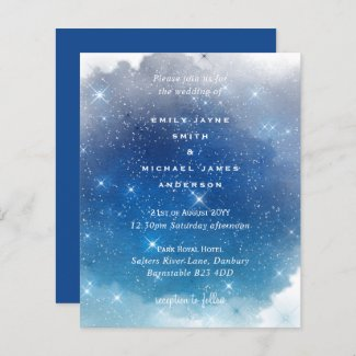Budget Blue Starry Nights Twinkle Stars Wedding