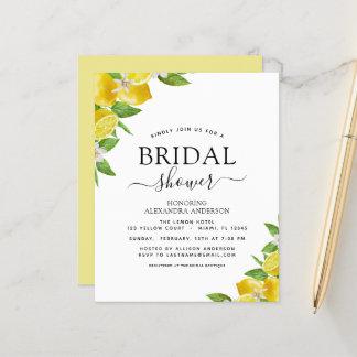 Budget Bridal Shower Lemon Citrus Invitations